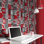 Rasch Kids Club Alphabet Red Wallpaper 150gsm_A_WP-1