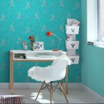 Rasch Kids Club Japanese Flower and Butterfly Blue Wallpaper 150gsm_A_WP-1