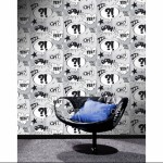 Rasch Metropolis Cartoon Black and White Wallpaper 150gsm_A_WP-1