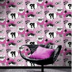 Rasch Metropolis Cartoon Pink Wallpaper 150gsm_A_WP-1